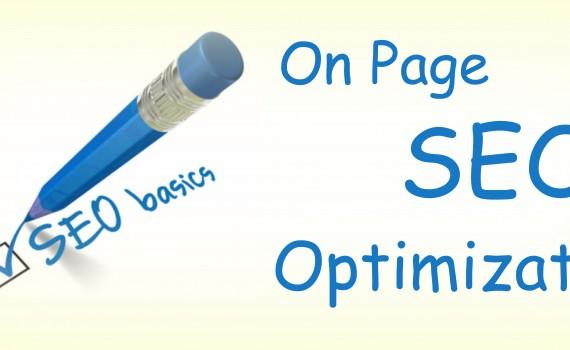 on page optimization - SEO